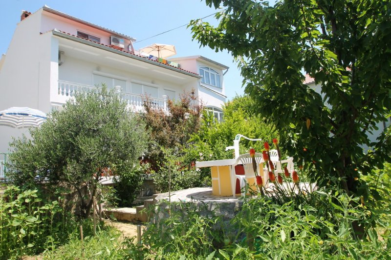 Holiday house with two apartments, garden, terrace, parking, barbecue, playground, balconies