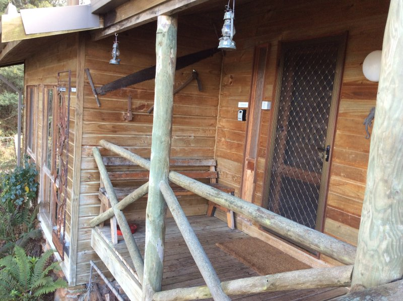 Trappers Lodge entrance  balcony