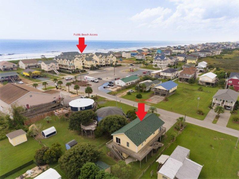 Aerial View to Beach Access
