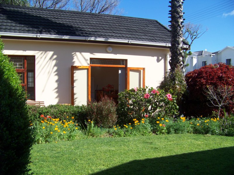 Patio doors opening onto garden