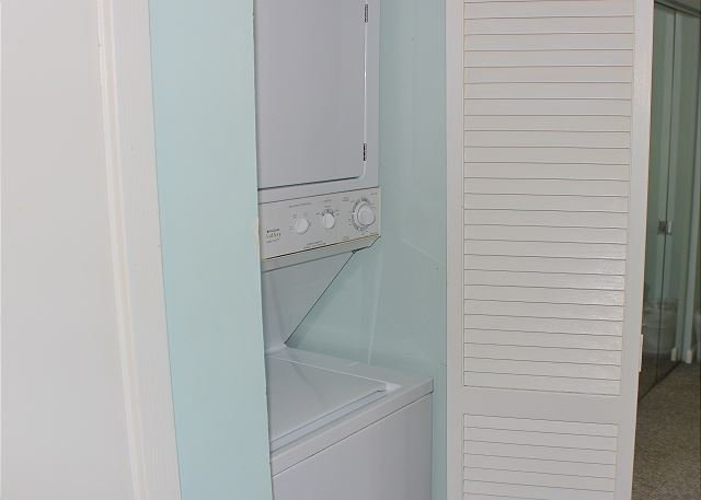 Laundry Closet in Hall