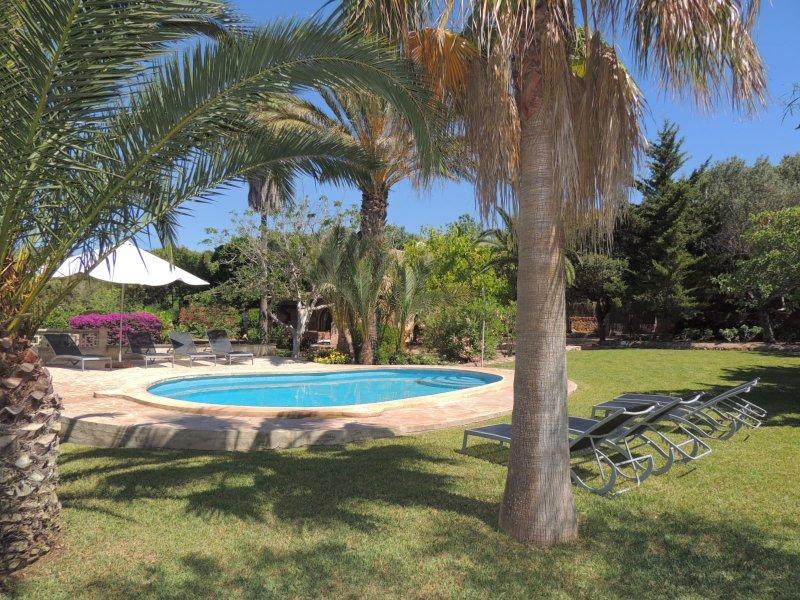 Cas Patro - Pool area with sun loungers