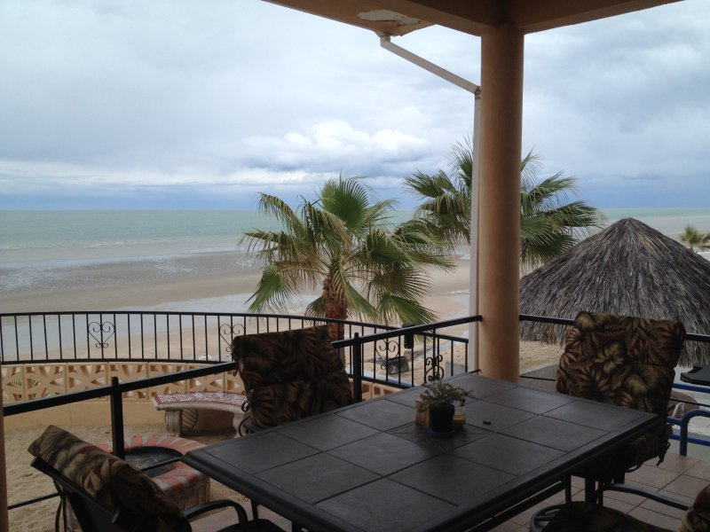 Imagine yourself enjoying lunch on this patio, mesmerized by the sea!