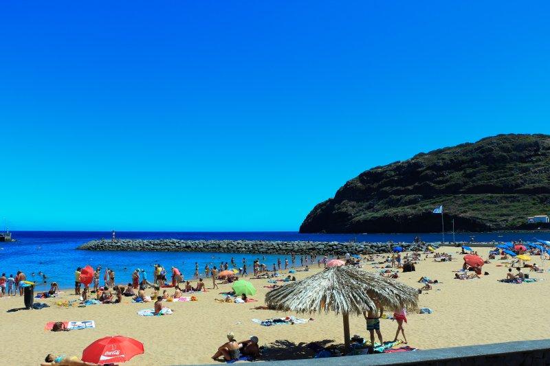 Machico sand beach