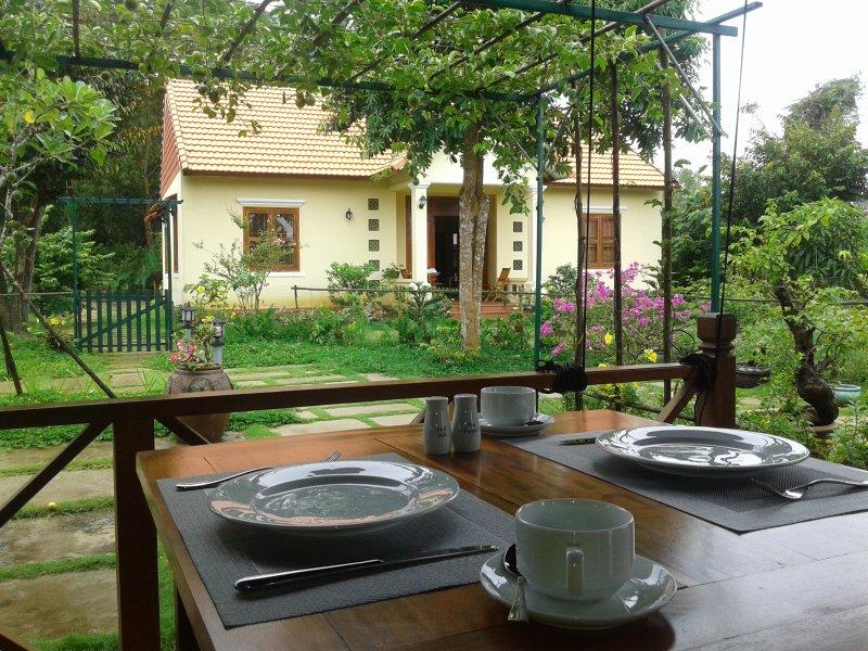 View from dining room, där du har frukost.