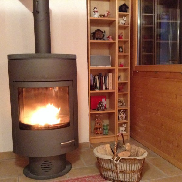 Cosy nights with this log burner, apartment also has underfloor heating.