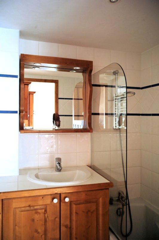 Grande salle de bain avec baignoire