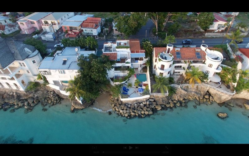 Vista aérea de Ocean Blues y Sandy Cove nuestro video http://youtube.be/1J758SSC DE