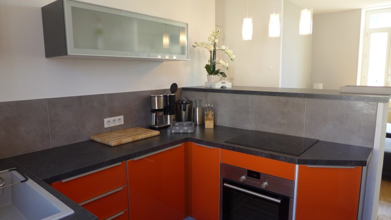 the kitchen with modern equipment