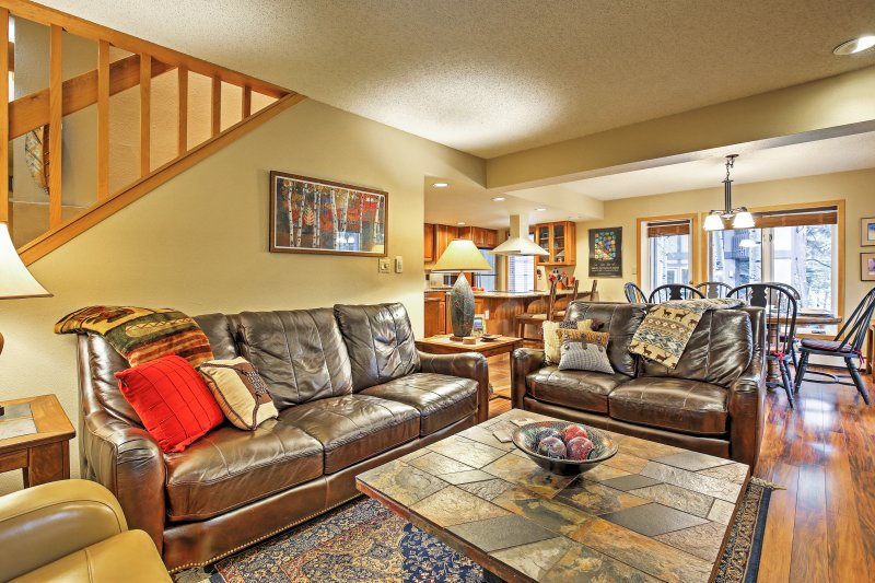 The spacious living room helps you feel at home.