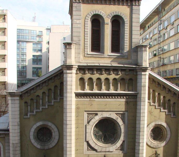 Lutherse Kerk en het Radisson Blu Hotel.