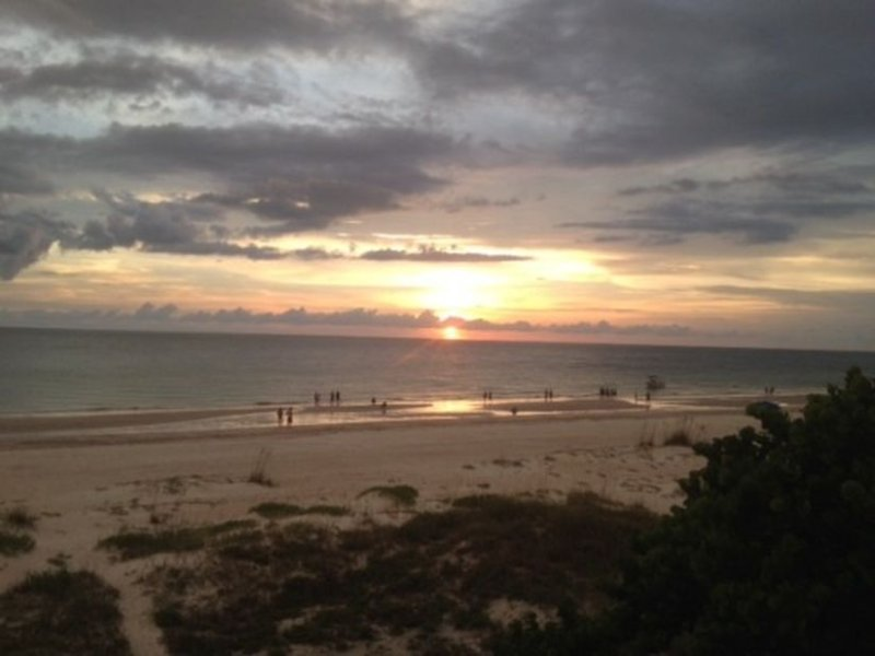 The sunsets at Indian Shores are breathtaking and provide the perfect backdrop for photographs.
