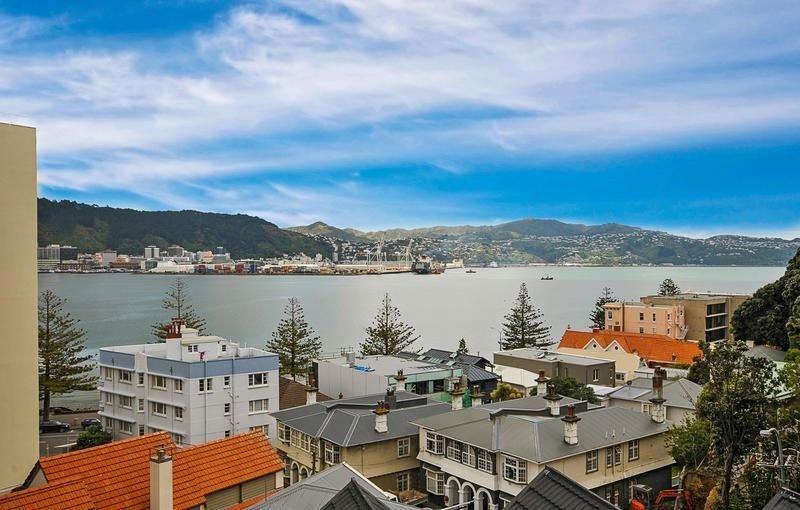 Wellington vista del porto da Oriental Bay Retreat.