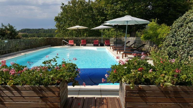Vista da piscina privada