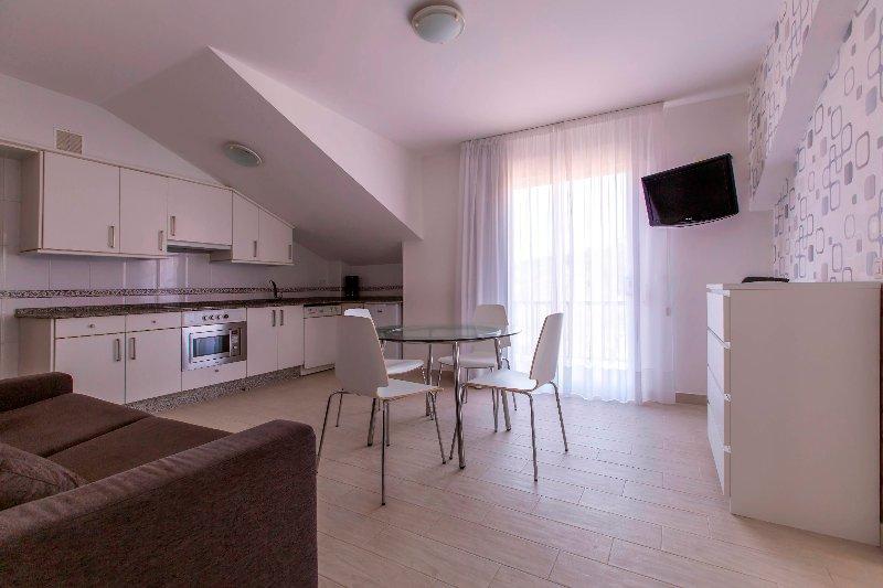 Lounge Küche von einem unserer Apartments.