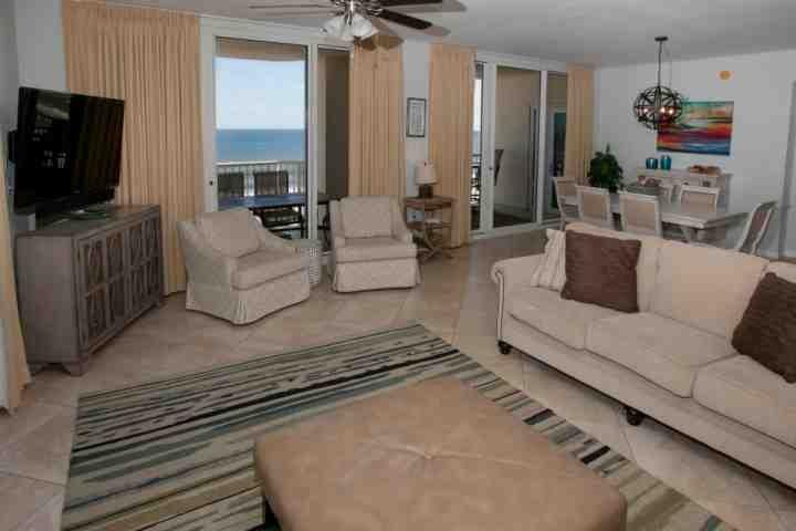 Living room with sleep sofa and two side chairs