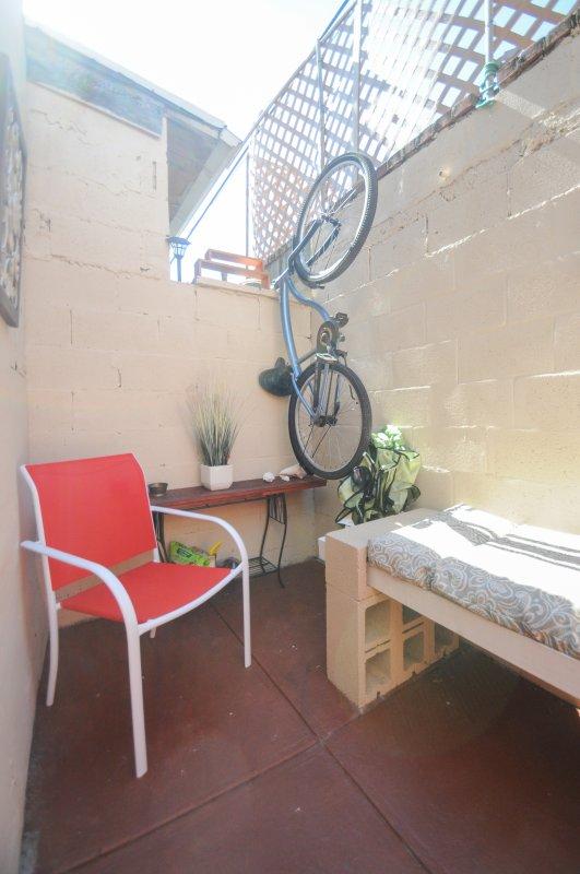 Enjoy some outside backyard space.  Seats 4