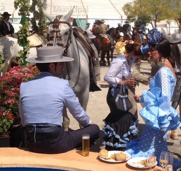 Le romantisme et la passion de l'Andalousie, en Espagne pendant la fiesta Septembre à Ronda.