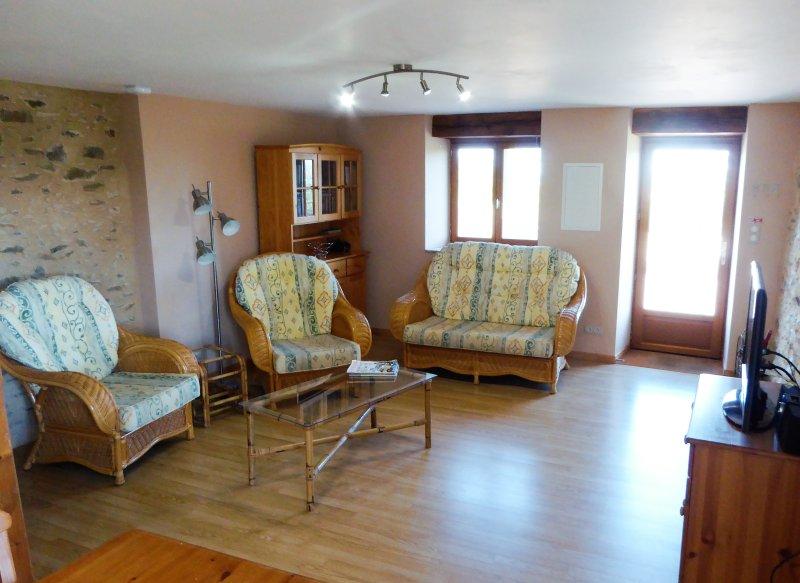 Salón amplio y luminoso zona
