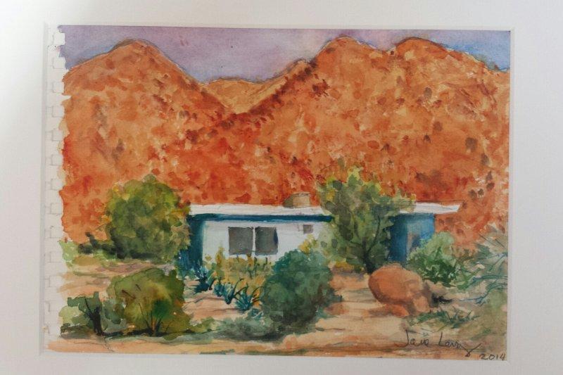 2014 preciosa pintura de nuestro estudio de invitados por un huésped anterior
