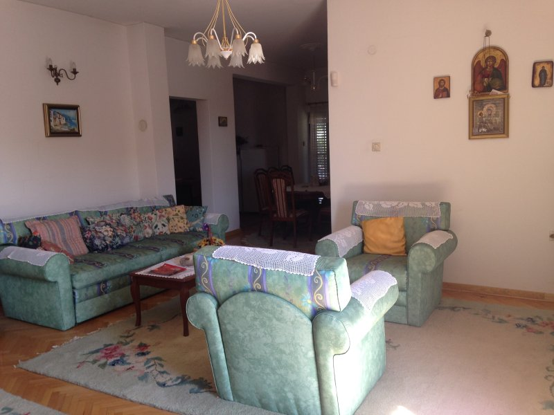 Spacious, bright 3 bedroom flat in a lovely house!, holiday rental in Pancevo