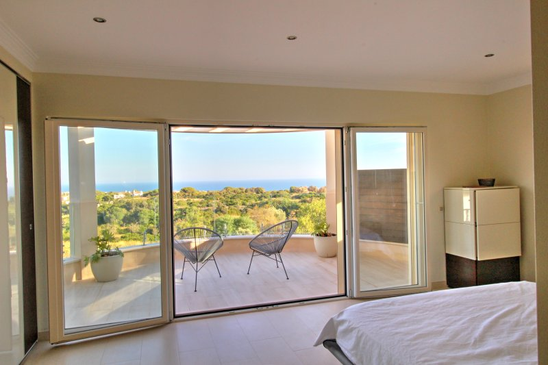 The master bedroom terrace and view of the ocean
