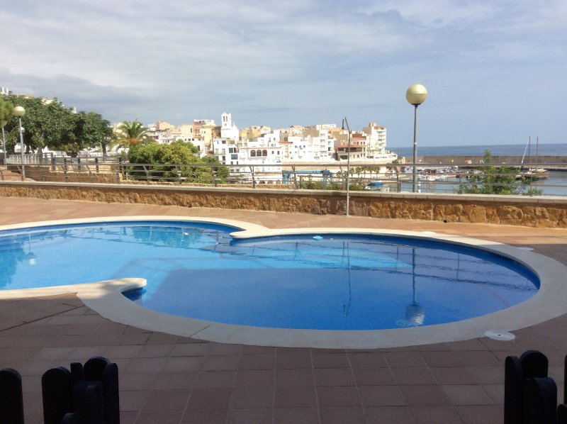 Pool overlooking the Marina and l'Ametlla de Mar fishing village