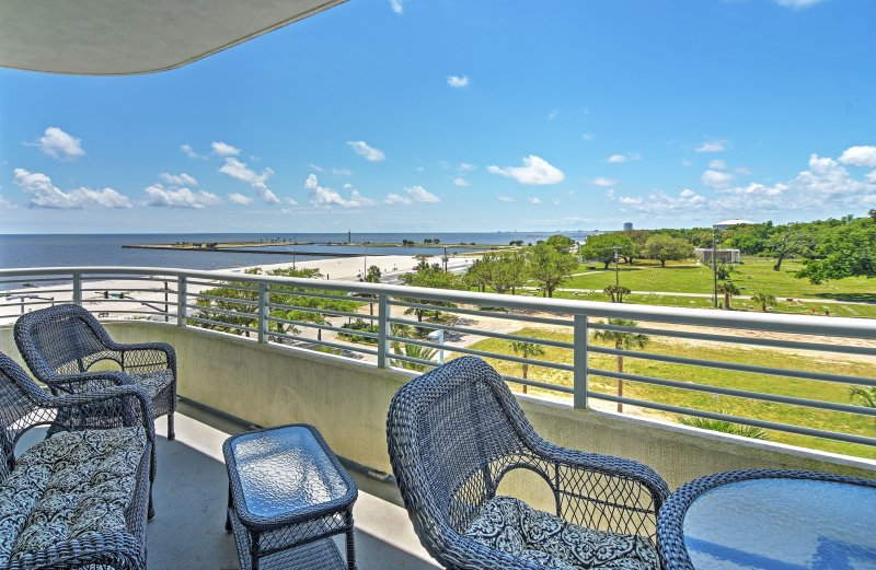 Enjoy views of the Mississippi Gulf Coast in this Biloxi vacation rental condo!