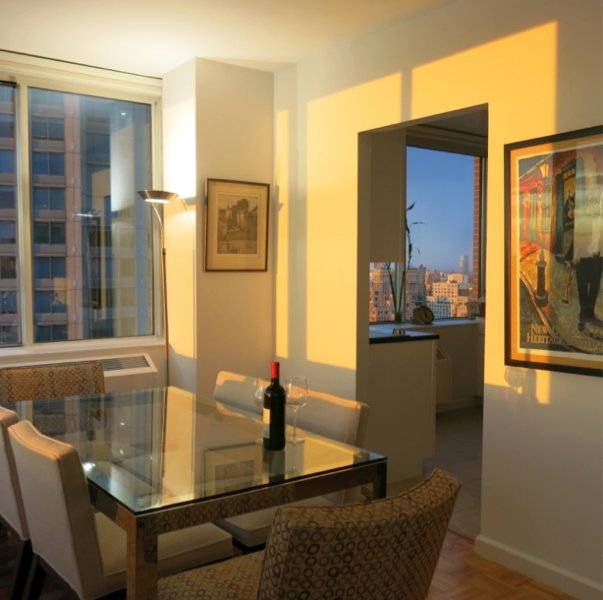 Nyc Upper West Side Luxury Apartment Overview Amenities Availability Map Dining Room And Kitchen Overlooking The