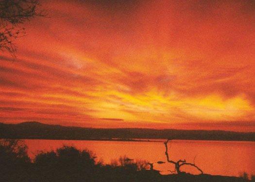 Sonnenaufgang von Deck