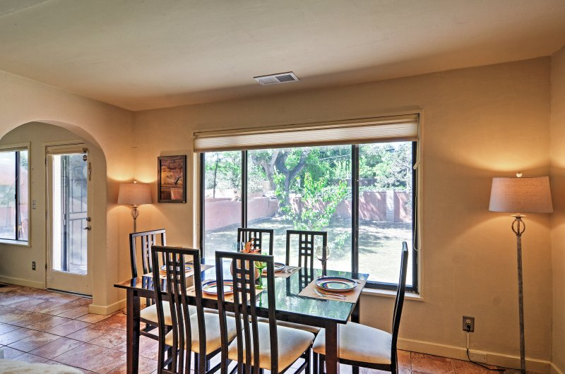 There is plenty of natural sunlight through the window-lined common areas.