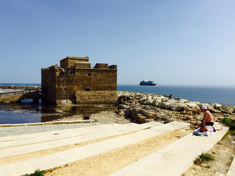 Nearby Paphos castle within walking distance