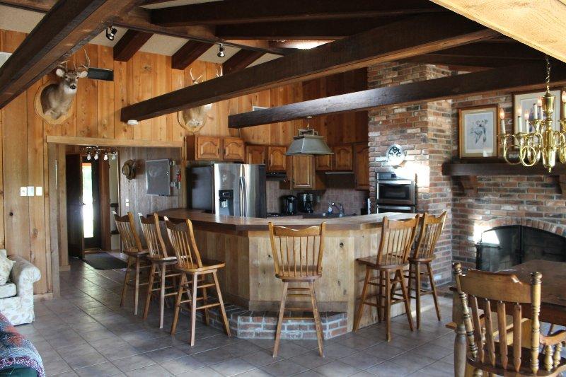 área de la barra de la cocina