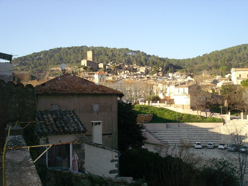 View of the medieval village