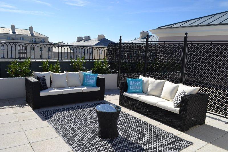 Sunny terrace on top floor