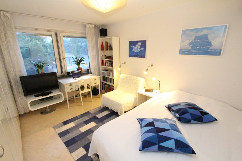 The White Room in a large Apartment, Södermalm, holiday rental in Soderholm