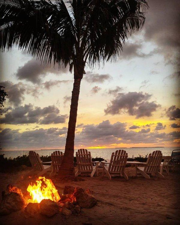 Onde mais você pode assistir o pôr do sol e assado marshmellows!