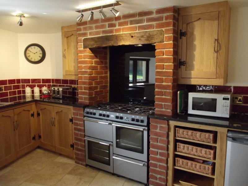 The spacious kitchen is very well equipped.  Great for enthusiastic cooks!