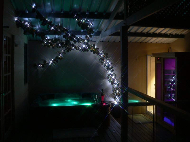 "Spa and sauna on ""Tea Tree"" balcony"