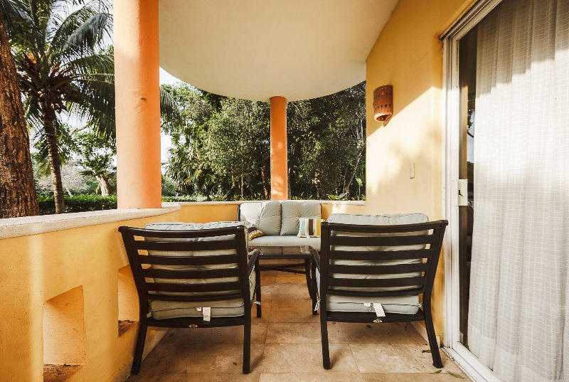 Your private patio with golf course views