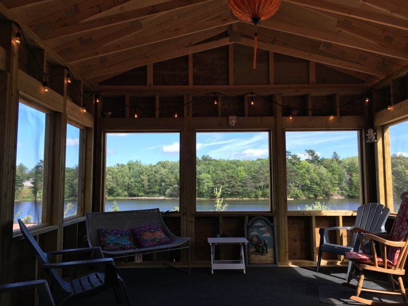 The jewel of this house is the 14'x16' screened in sunroom accessed via patio doors from dining area