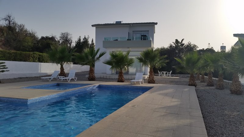 No. 5 Breezy Hill Villas, one of our two villas on this lovely site in the village of Esentepe