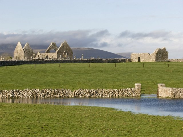 Kilmacduagh Monastery, near Gort, Co. Galway