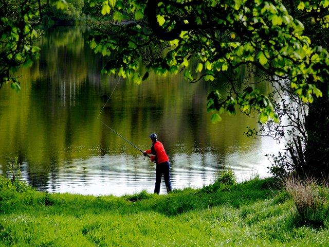 Fishing on Lough Mucknoo