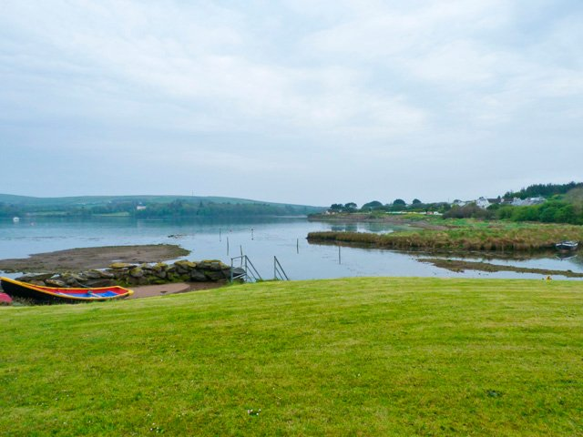View of Dingle Bay from the front lawn of the property