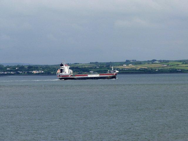 Tanker on the Shannon Estuary