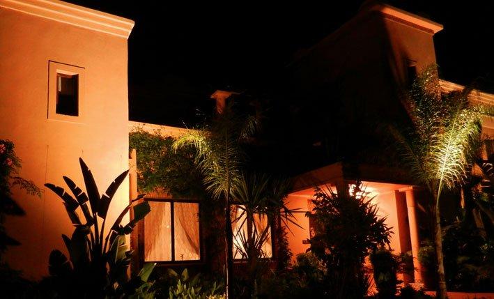 Lavish Garden Views by Night