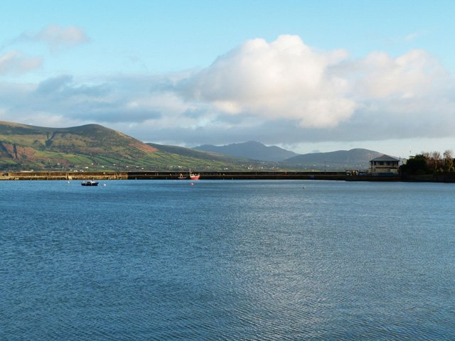 View from Carlingford with Mountain's of Mourne in the background