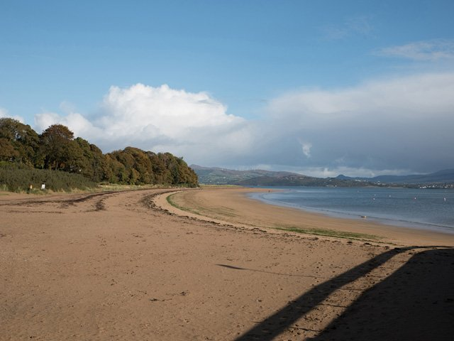 View of the beach from Rathmullan quay