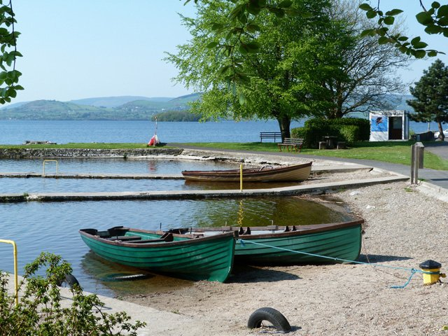 Boats moored at Mountshannon on the shores of Lough Derg